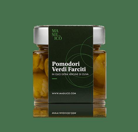 Pomodori verdi farciti in olio extra vergine di oliva 190 g