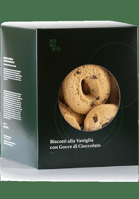 Biscotti alla vaniglia con gocce di cioccolato 500 g