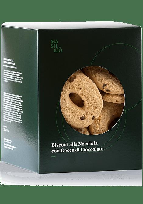 Biscotti alla nocciola con gocce di cioccolato 500 g