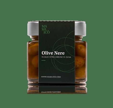 Olive nere in olio extra vergine di oliva 190 g