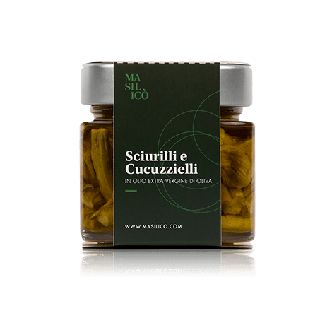 Sciurilli e cucuzzielli in olio extra vergine di oliva 190 g
