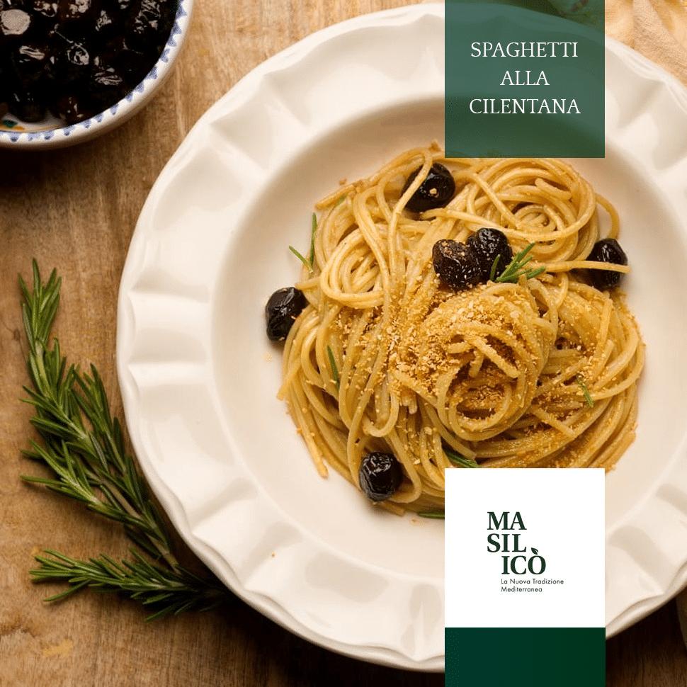 Spaghetti alla Cilentana con alici salate e olive nere, la ricetta della settimana!!