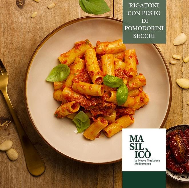 La ricetta della settimana: rigatoni con pesto di pomodorini secchi