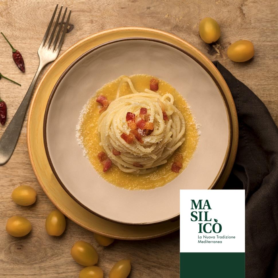 Spaghetti all'Amatriciana con pomodorini gialli – Ricetta della Settimana