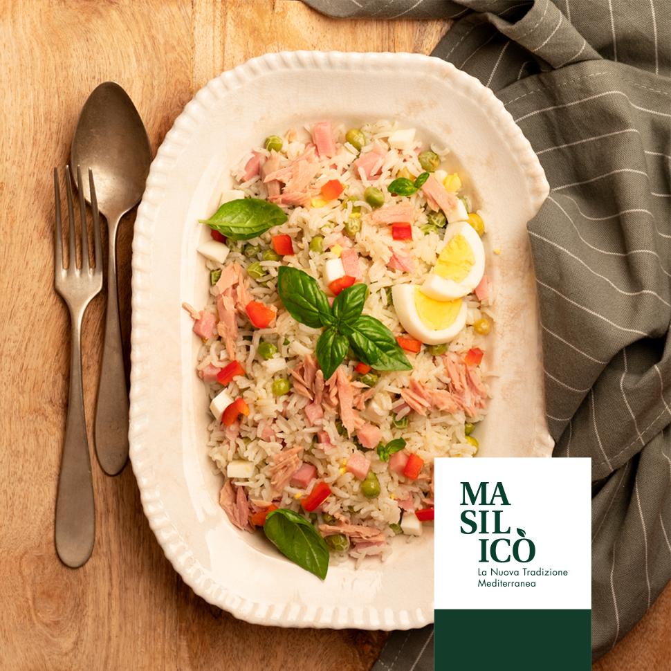Insalata di riso con olio al basilico – Ricetta della Settimana
